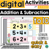 Addition and Subtraction Spring DISTANCE LEARNING