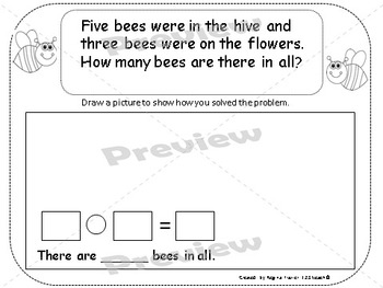 Addition and Subtraction Spring Number Stories/ Word Problems K.OA.2&1.0A.1