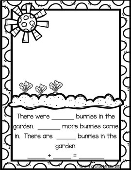 Addition and Subtraction Spring Story Mats