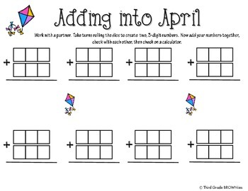 Addition and Subtraction Springtime Freebie