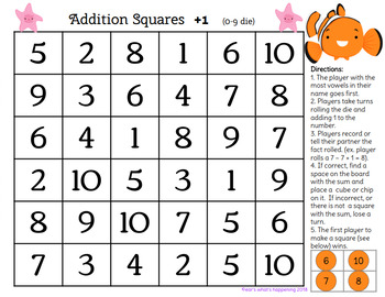 Addition and Subtraction Square Bundle - Disney Themes