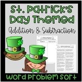 St. Patrick's Day Addition and Subtraction Word Problem Sort