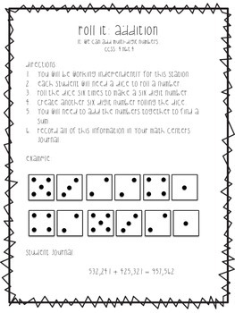 Addition and Subtraction Stations