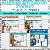 Addition and Subtraction Stations Bundle Distance Learning