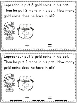 Addition and Subtraction Story Bundle (Leprechaun/St. Patrick's Day Edition)