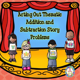 Addition and Subtraction Word Problem Necklaces for PK/K