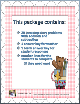 Addition and Subtraction Story Problem Cards for Beginners
