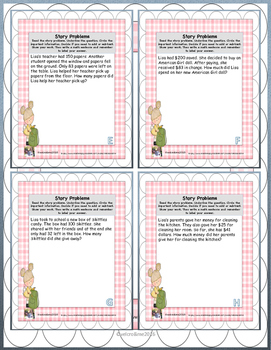 Addition and Subtraction Story Problem Cards for Beginners  KIDS