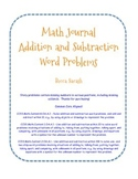 Addition and Subtraction Story Problem Journal Prompts