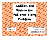 Addition and Subtraction Pattern Story Problems- Fall