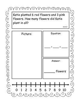 Addition and Subtraction Story Problems, Kindergarten Version, Set 2