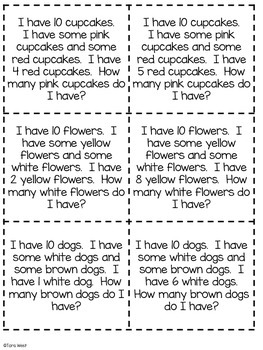 Addition and Subtraction Story Problems Prompts
