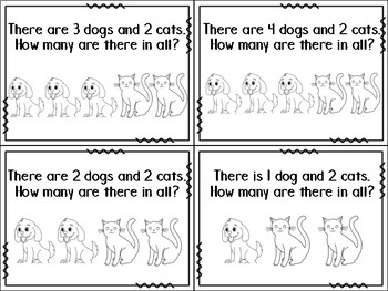 Addition and Subtraction Story Problems to 6 Task Cards