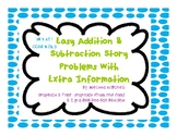 Addition and Subtraction Story Problems with Extra Information 2 digits