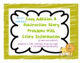 Addition and Subtraction Story Problems with Extra Information 3 digits