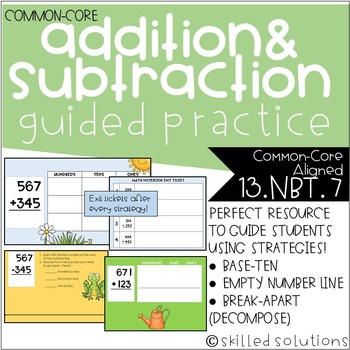 Addition and Subtraction Guided Practice with Strategies