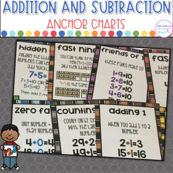 Addition and Subtraction Strategies- Anchor Charts