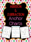 Addition and Subtraction Strategies Anchor Charts and Graphic Organizers