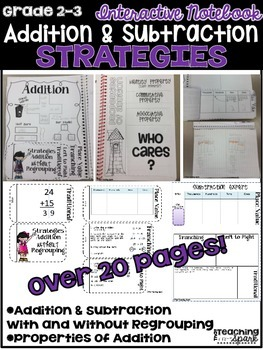 Addition and Subtraction Strategies Interactive Notebook