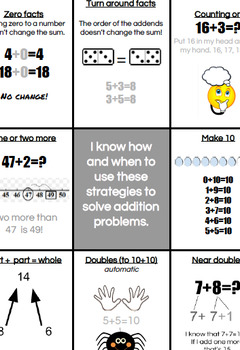 Addition and Subtraction Strategies Mats