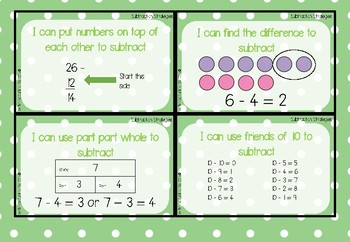 Addition and Subtraction Strategies - Mini Posters