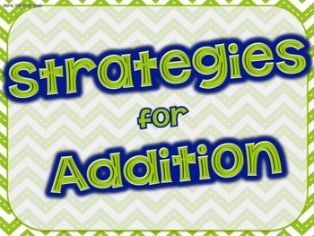 """""""Strategies for Addition"""" Posters"""
