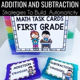 Addition and Subtraction Strategies Task Cards 1.OA.C.6