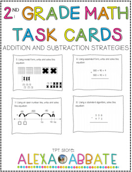 Addition and Subtraction Strategies Task Cards