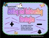 Addition and Subtraction Strategies  Unit Gr. 2 for the  Smartboard