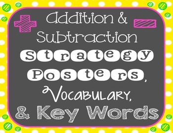 Addition and Subtraction Strategies, Vocabulary, and Key Words