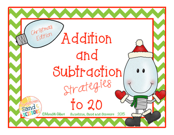 Addition and Subtraction Strategies to 20 Christmas Editio