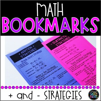 Addition and Subtraction Strategy Bookmarks