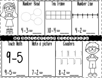 Addition and Subtraction Strategy Mats {printables for practicing strategies}