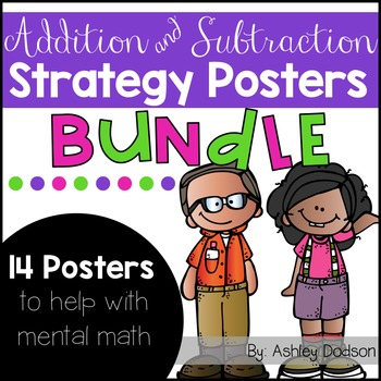 Addition and Subtraction Strategy Posters {BUNDLE}