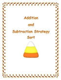 Addition and Subtraction Strategy Sort