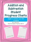 Addition and Subtraction Student Progress Charts {Common Core Aligned}