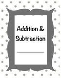 Addition and Subtraction Study Guide