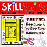 Addition and Subtraction Sums to 20 Differences to 20 Center Activity