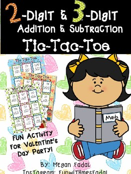 Addition and Subtraction TIC-TAC-TOE **NO PREP**