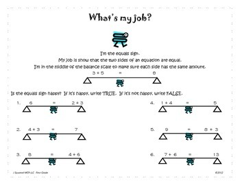 Addition and Subtraction TRUE or FALSE