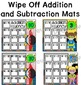 Addition and Subtraction Tables and Wipe Off Mats