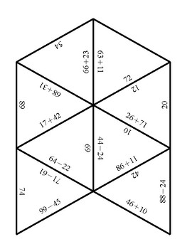 Addition and Subtraction Tarsia Math Puzzles