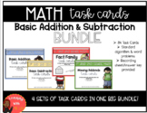 Addition and Subtraction Task Card Bundle