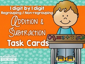 Addition and Subtraction Task Cards (1 digit by 1 digit)