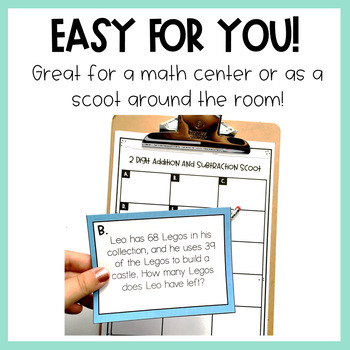 Addition and Subtraction Task Cards- 2 digit