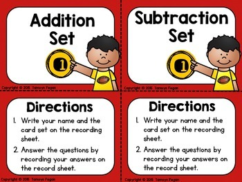 Addition and Subtraction Task Cards (2 digit by 2 digit)