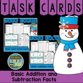 Winter Basic Addition Facts and Basic Subtraction Facts Task Cards & More Bundle