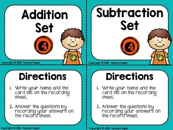 Addition and Subtraction Task Cards (3 digit by 1 digit)