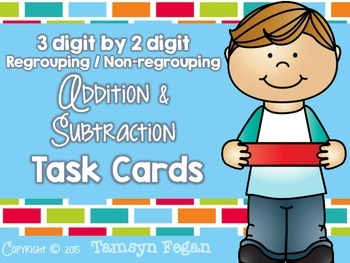 Addition and Subtraction Task Cards (3 digit by 2 digit)