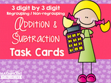 Addition and Subtraction Task Cards (3 digit by 3 digit)
